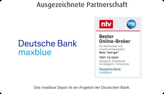 Depot bei der norisbank: In Kooperation mit maxblue