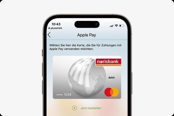 Apple Pay aktivieren - Mastercard auswählen