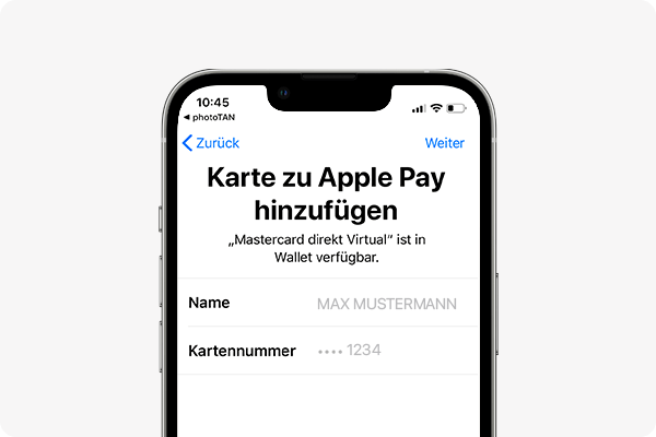 Apple Pay aktivieren - Auswahl bestätigen