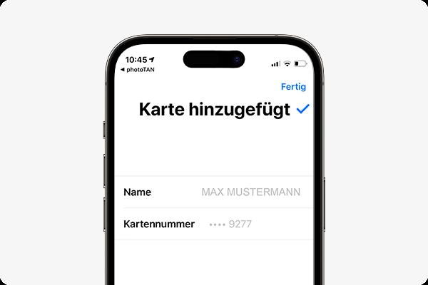 Apple Pay aktivieren - fertig