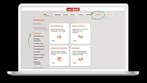 InfoServices norisbank Steuerung