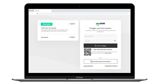 Screenshot Paydirekt norisbank