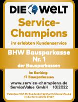Die Welt: Service Champions - BHW Bausparkasse