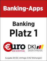 Siegel €uro Banking-Apps: Platz 1