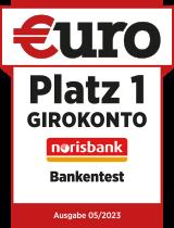 Bankentest: Platz 1 Girokonto norisbank