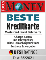 Siegel Focus Money - Beste Kreditkarte