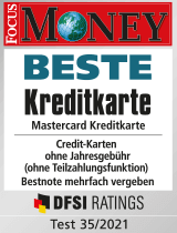 Siegel Focus Money: Beste Kreditkarte
