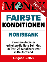 "Siegel Focus Money ""Fairste Konditionen"""