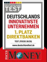 Siegel Focus Money: Deutschlands innovativstes Unternehmen