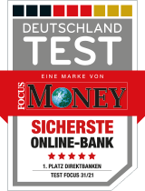 "Siegel Focus Money ""Sicherste Onlinebank"""
