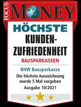 Siegel Focus Money: Höchste Kundenzufriedenheit Bausparkassen
