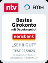 Siegel ntv bestes Girokonto Depotangebot
