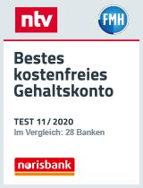 ntv: Bestes kostenfreies Gehaltskonto norisbank