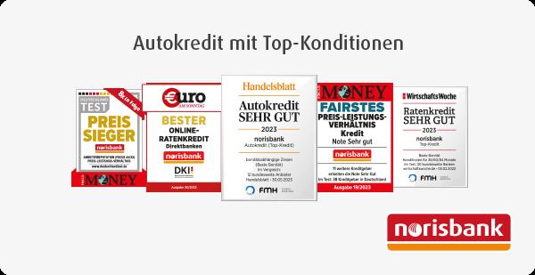 Testsiegel: Preis-Sieger – Onlinekredite bonitätsabhängig sehr gut – Fairster Autofinanzierer –  Beste Ratenkredite – Beste Direktbank