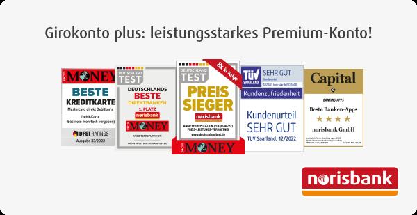 Testsiegel: Preis-Sieger – Beste Direktbank – Sicherste Online-Bank