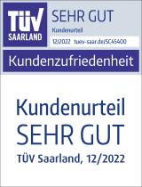 """Siegel TÜV: Kundenzufriedenheit """"Sehr gut"""""""