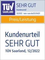 Siegel TÜV Preis / Leistung: sehr gut