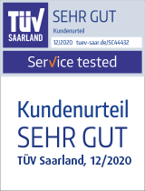 "Siegel TÜV ""Service tested"""