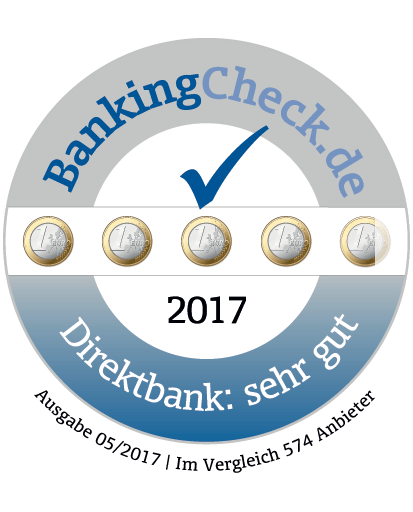 BankingCheck Award, April 2017
